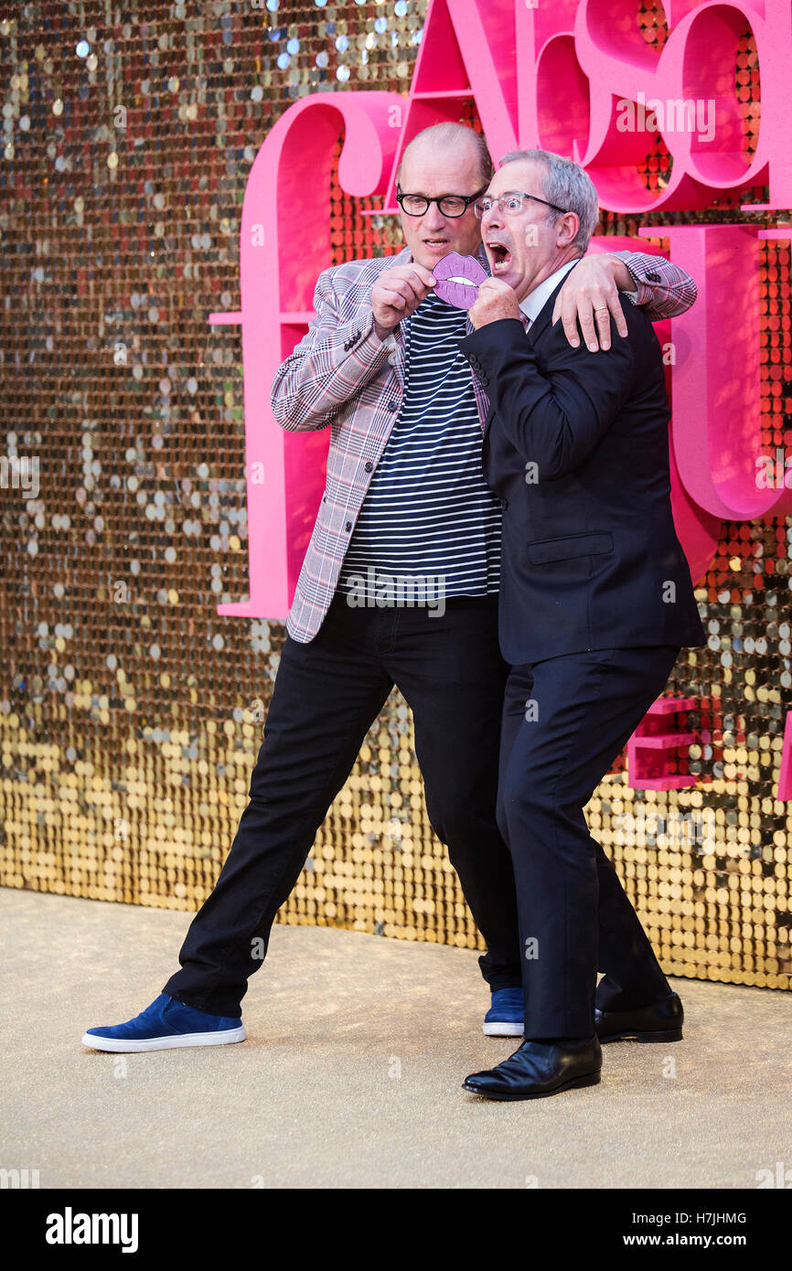 Adrian Edmondson and Ben Elton attend the Absolutely Fabulous movie premiere in Leicester Square, London - Stock Image