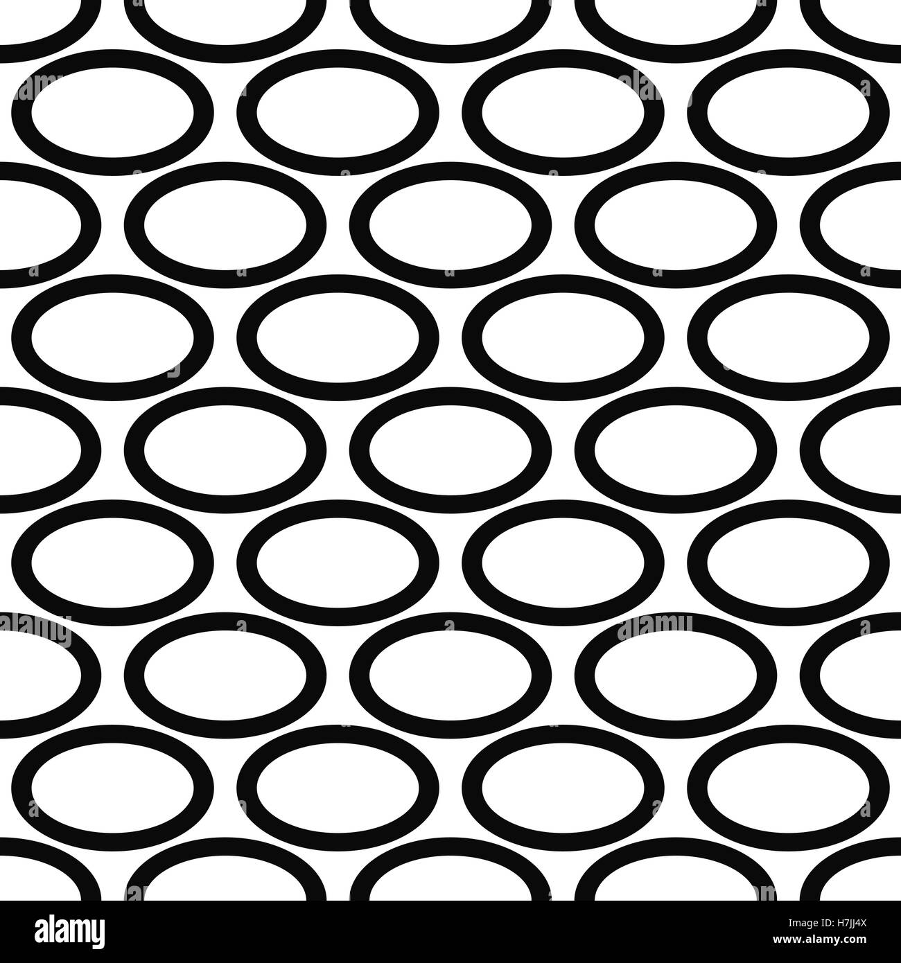Abstract black and white ellipse pattern design Stock Vector Art ...
