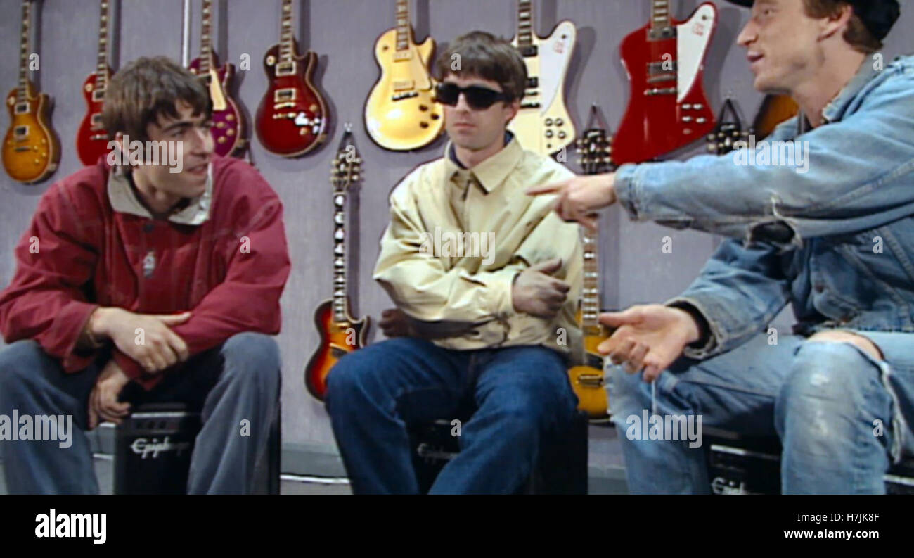 Supersonic is a revealing look at the meteoric rise of seminal '90s rock band Oasis, weaving never-before-seen - Stock Image