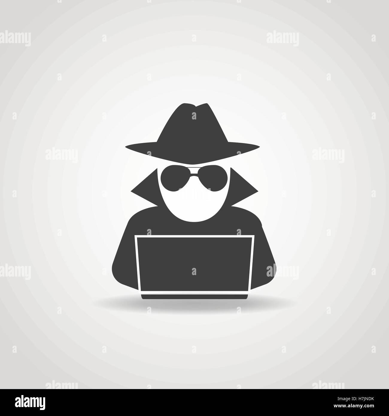 Black Hat Hacker Vector Vectors Stock Photos & Black Hat