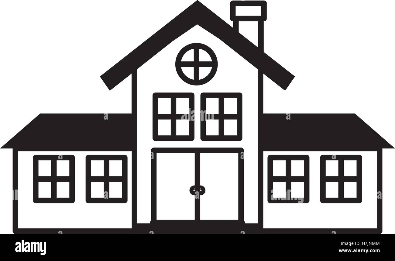 Home building icon. silhouette of house architecture and real estate ...