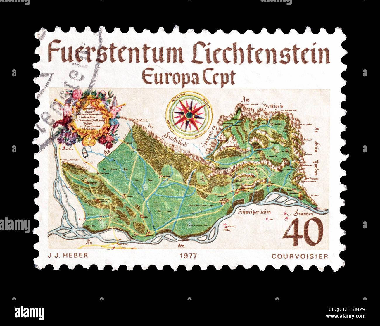 Liechtenstein stamp 1977 Stock Photo