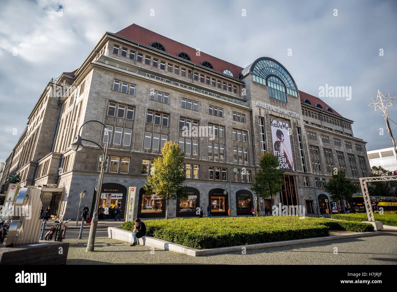 Kaufhaus Des Westens, or KaDeWe, the largest department store in Germany, on Tauntzienstrasse in Berlin - Stock Image