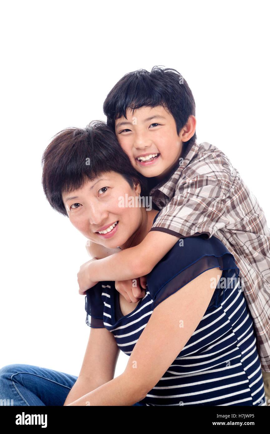 Mature mom asian boy