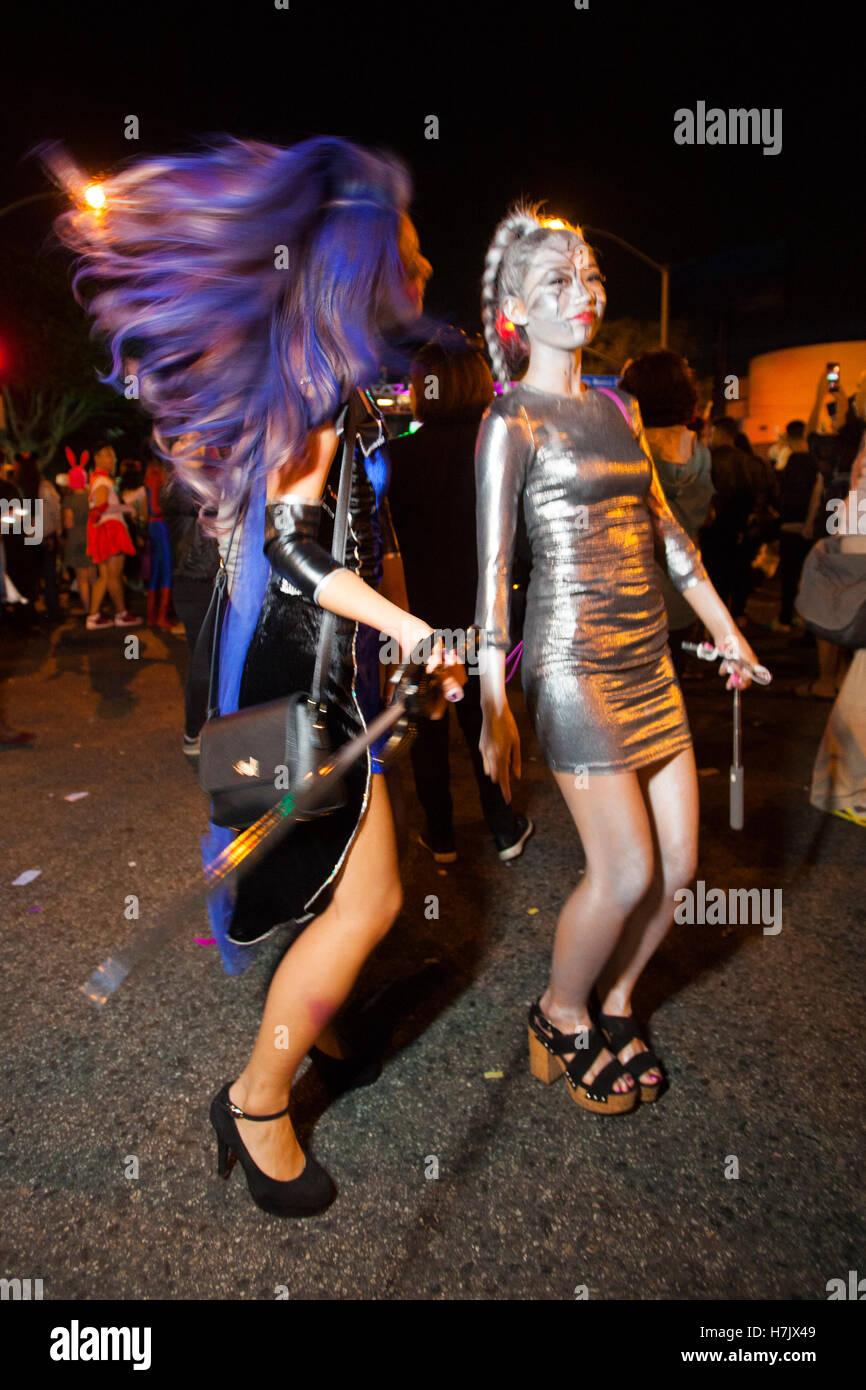 west hollywood halloween carnival stock photos & west hollywood