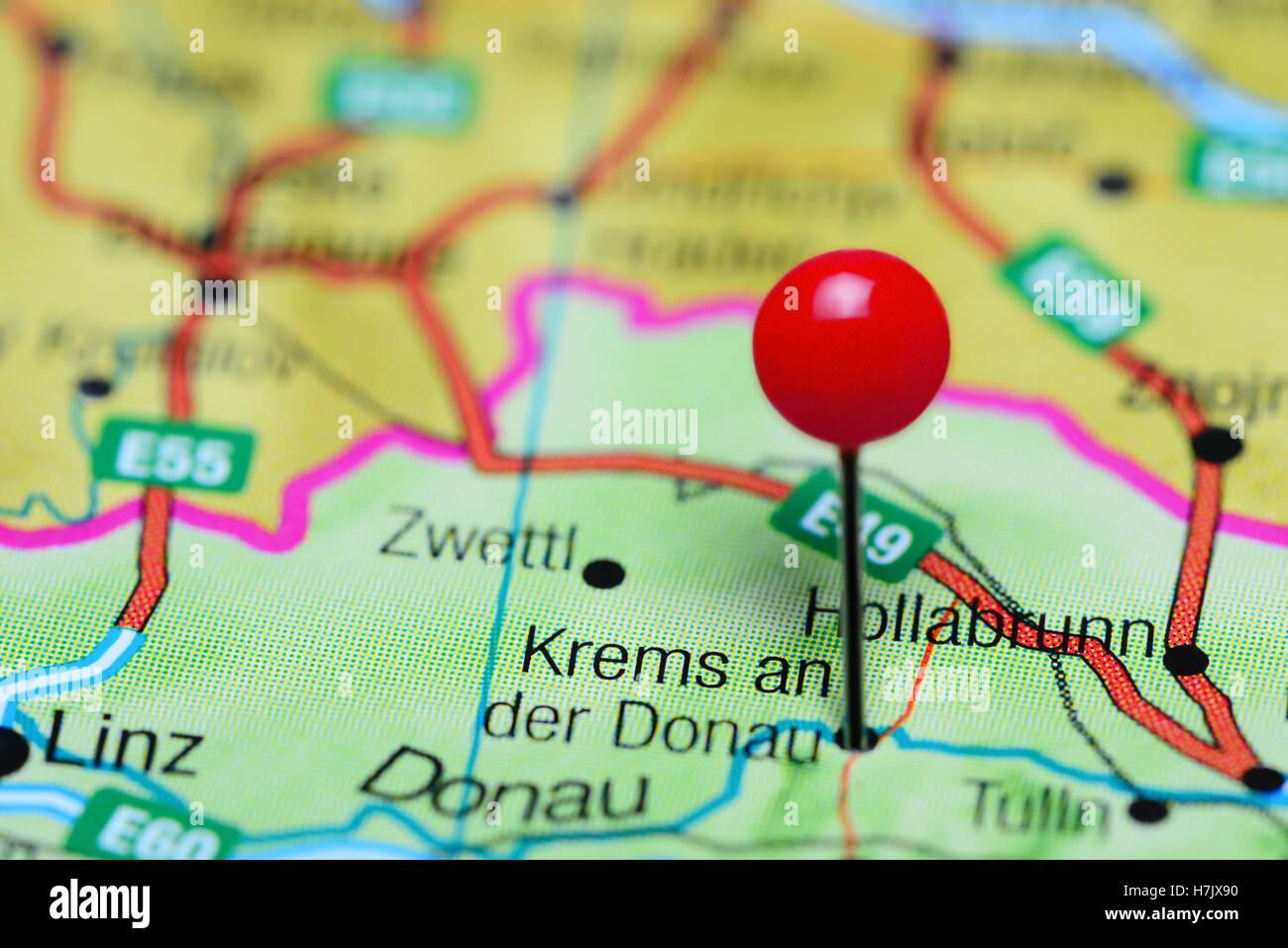 Krems an der Donau pinned on a map of Austria Stock Photo: 125190940 on lower austria, wien austria map, austria rail map, gmund austria map, grossglockner austria map, danube university krems, brussels austria map, althofen austria map, linz austria map, wiener neustadt austria map, budapest austria map, maria theresa of austria map, villach austria map, zell am see austria map, rohrau austria map, bregenz austria map, wiener neustadt, strasbourg austria map, eisenstadt austria map, ybbs an der donau, graz austria map, salzburg austria map, ternitz austria map, durnstein austria map,