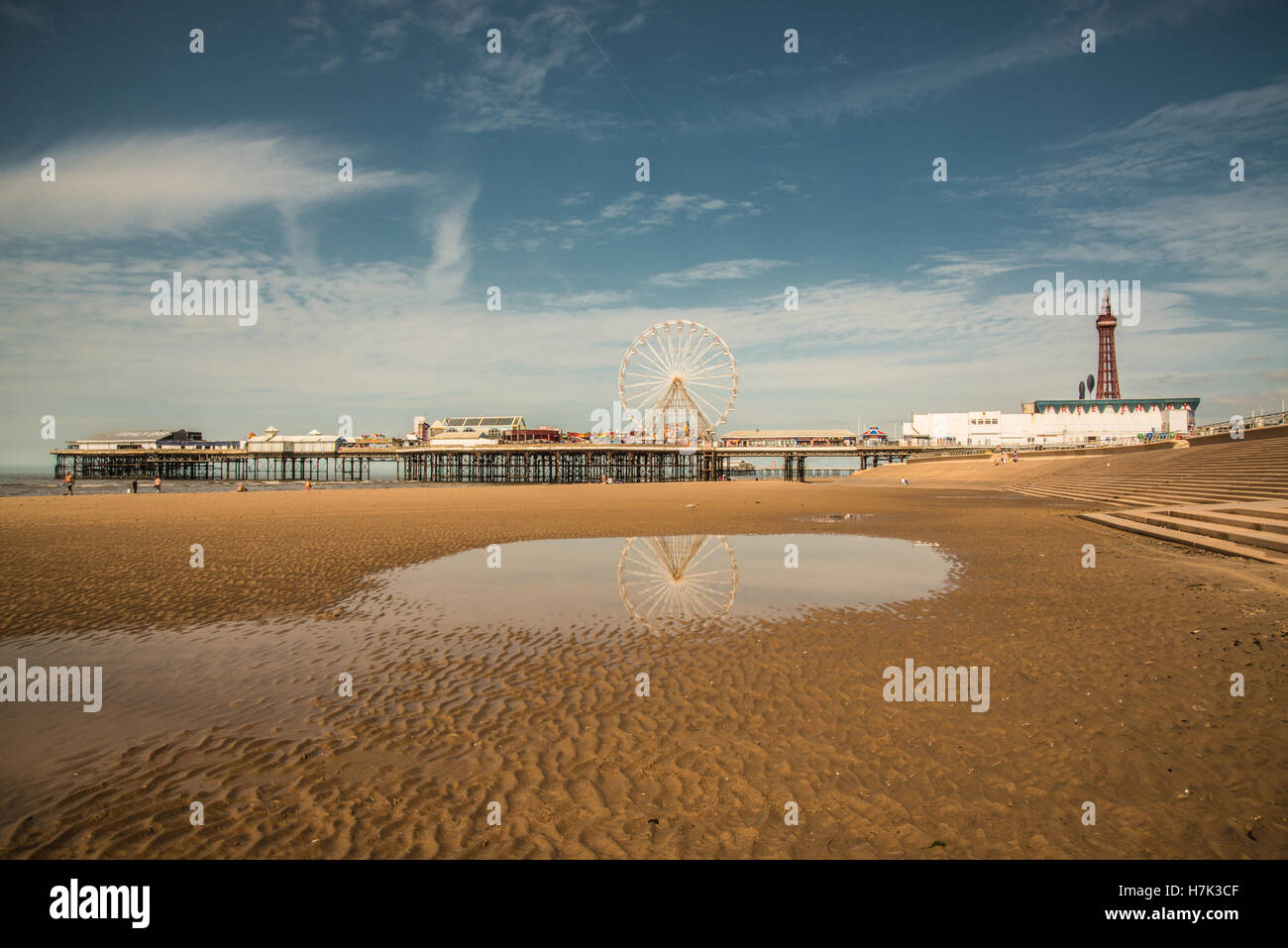 looking out to Blackpool by the sea Ray Boswell - Stock Image