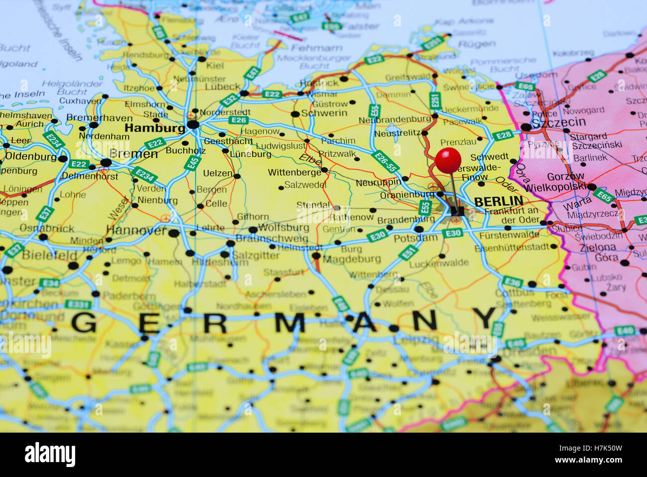 Berlin pinned on a map of germany stock photo 125196201 alamy berlin pinned on a map of germany gumiabroncs Image collections