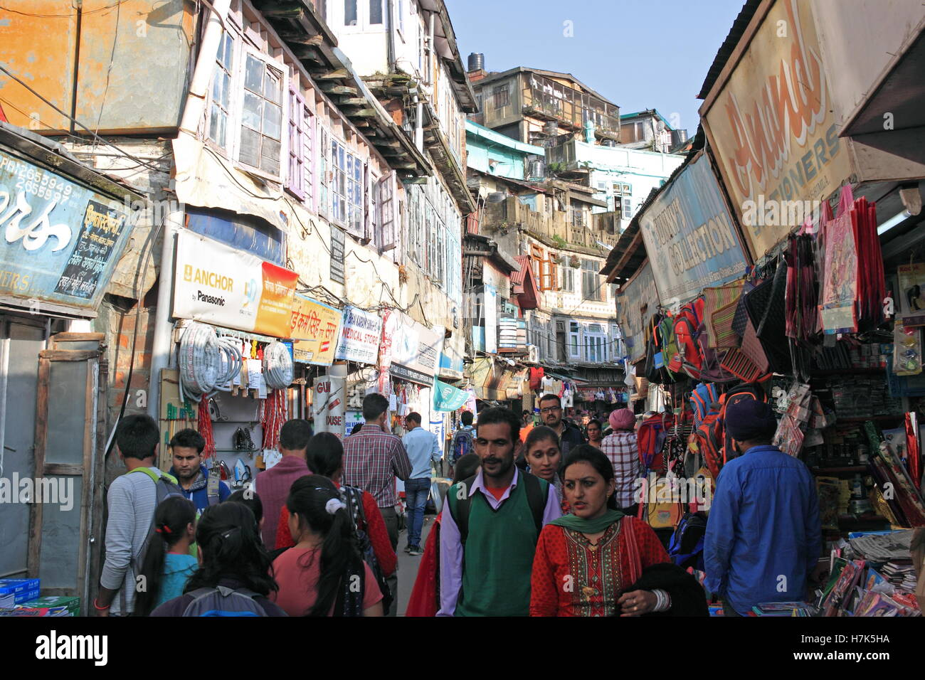 Lower Bazar, Shimla, Himachal Pradesh, India, Indian subcontinent, South Asia Stock Photo