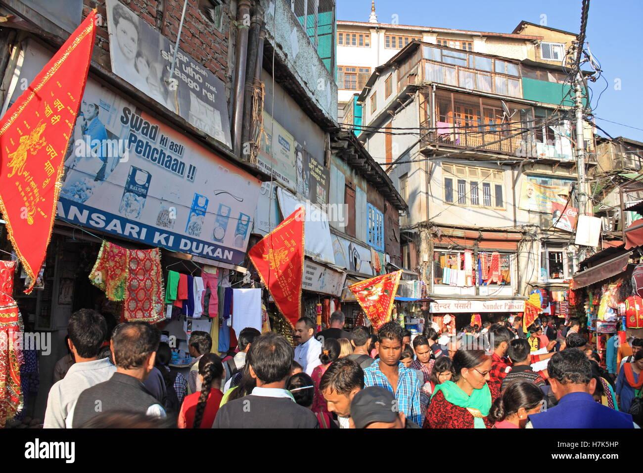 Lower Bazar, Shimla, Himachal Pradesh, India, Indian subcontinent, South Asia - Stock Image