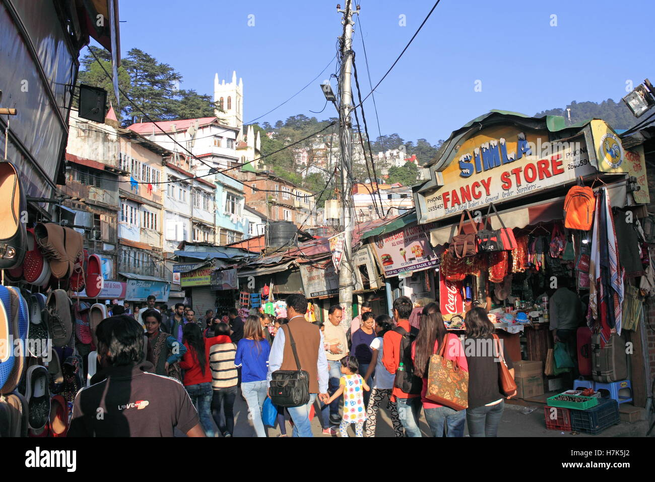 Lower Bazar, Shimla, Himachal Pradesh, India, Indian subcontinent, South Asia - Stock Image