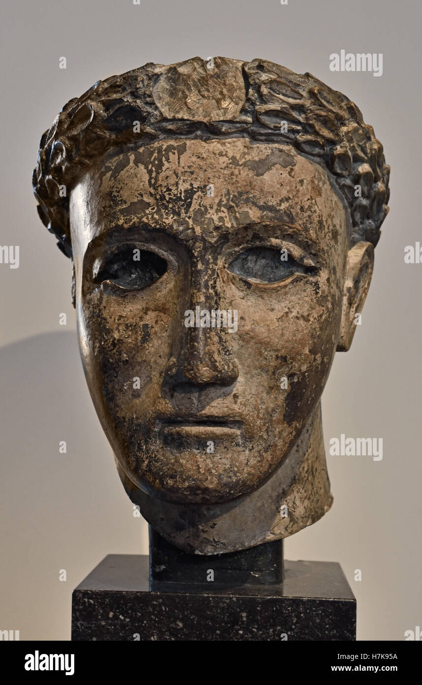 Portrait of a tomb Statue Upper Egypt 1-2th Century Egyptian ( Priest ) - Stock Image