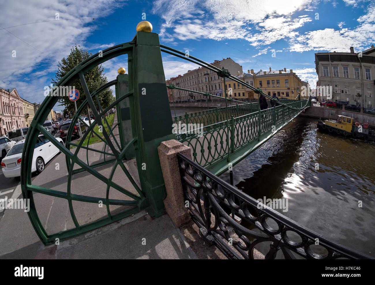 Postoffice bridge in Saint-Petersburg, Russia - Stock Image