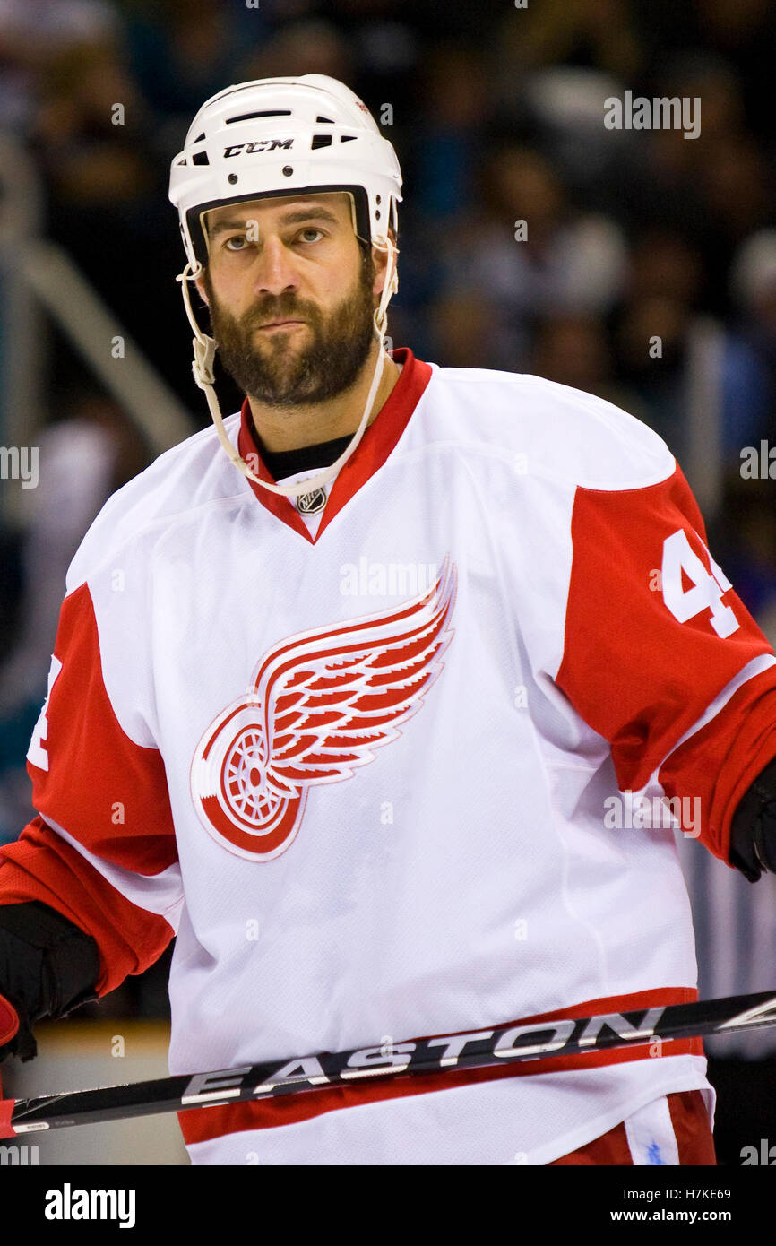 April 29, 2010; San Jose, CA, USA; Detroit Red Wings right wing ...