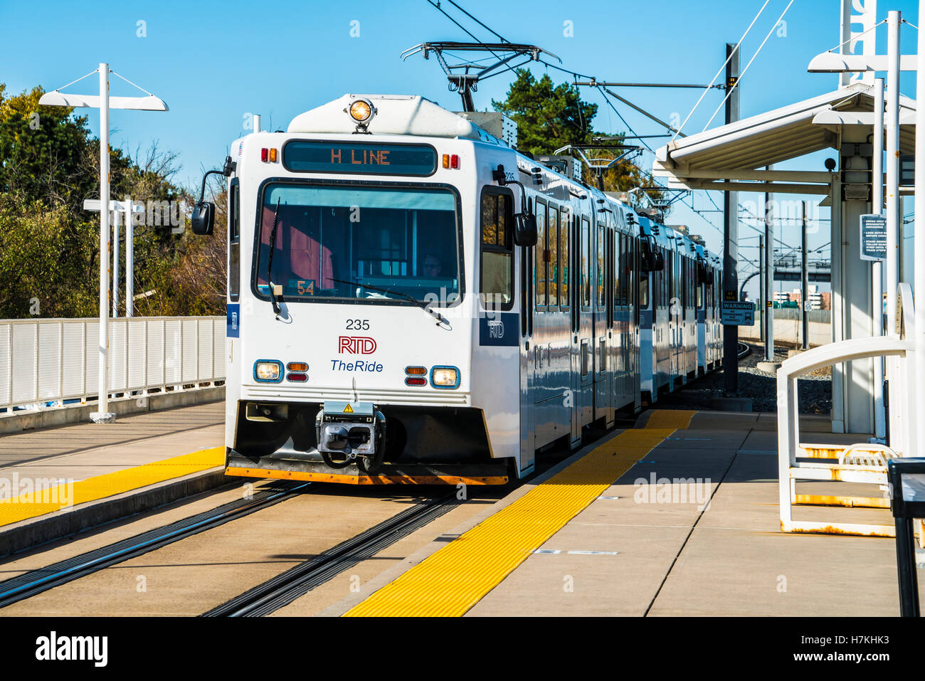 Denver area Regional Transportation District RTD light rail