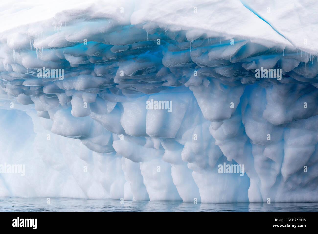 Antarctica blue iceberg, ice berg, floats in Antarctica landscape of ice. - Stock Image