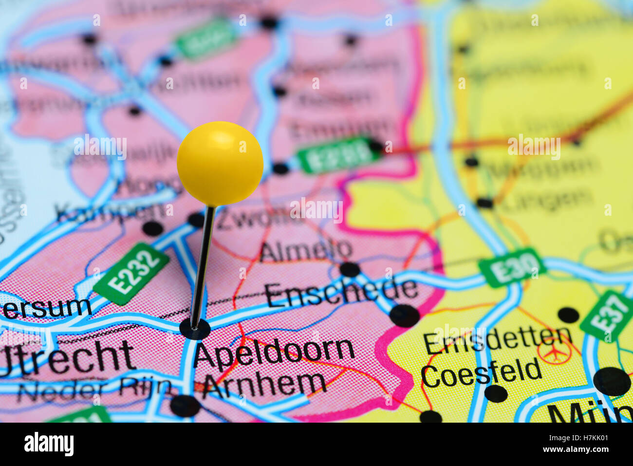Apeldoorn pinned on a map of Netherlands Stock Photo 125207153 Alamy