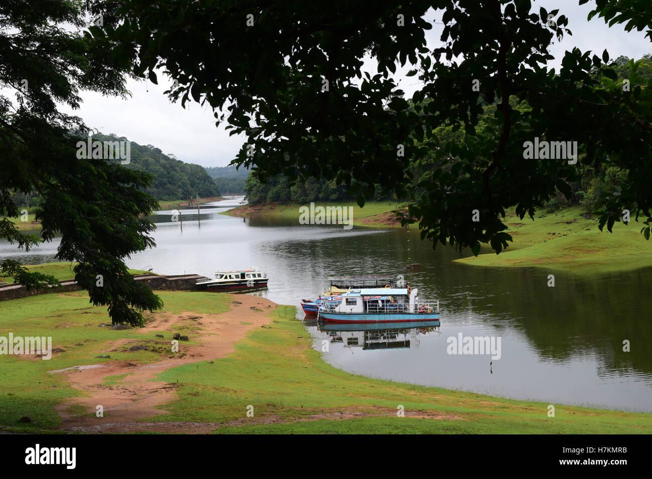 Thekkady Tourist attraction in Periyar National Park Idukki Kerala India - Stock Image