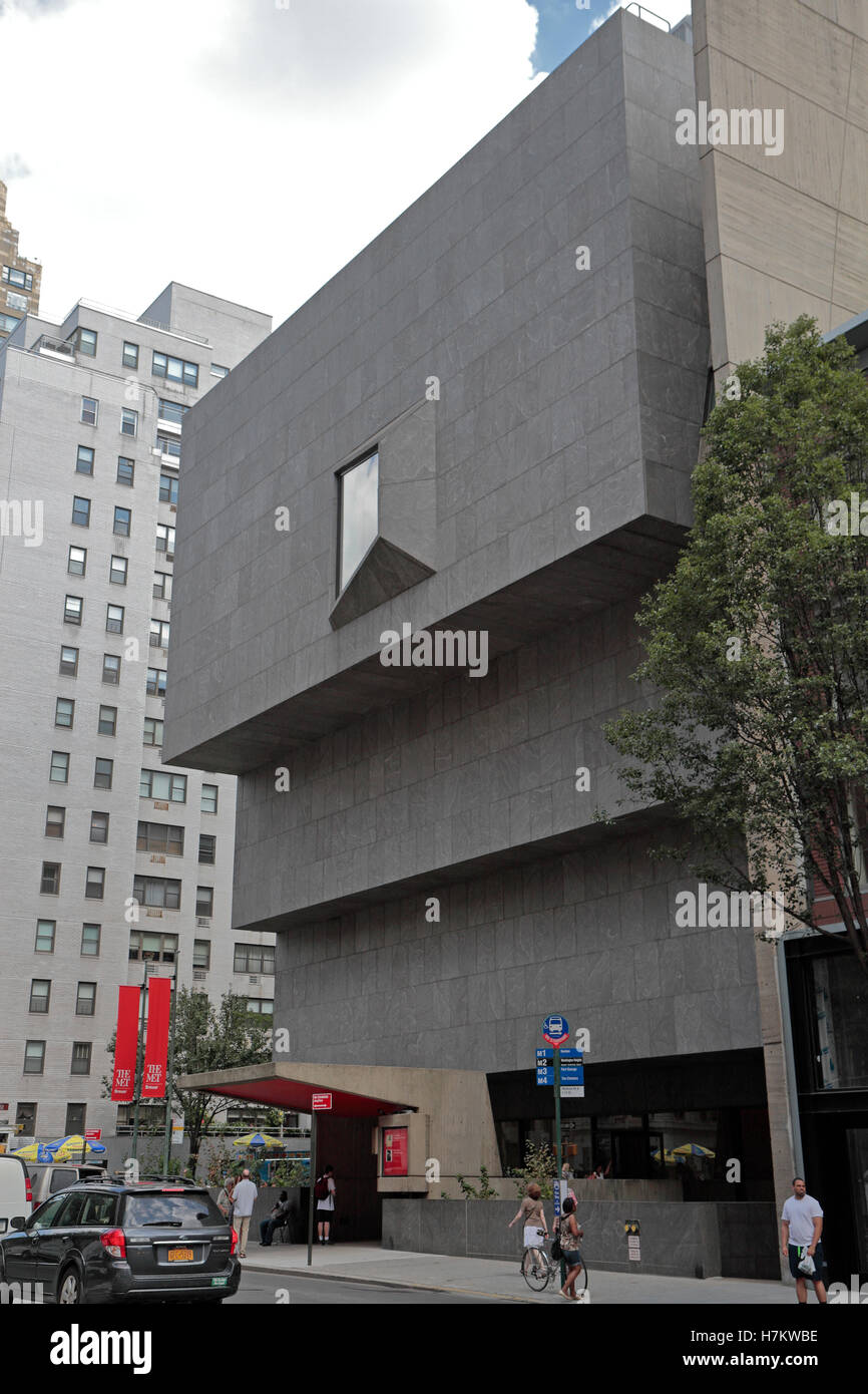 The Met Breuer, part of The Metropolitan Museum of Art, 945 Madison Avenue, Manhattan, New York City, United States. - Stock Image