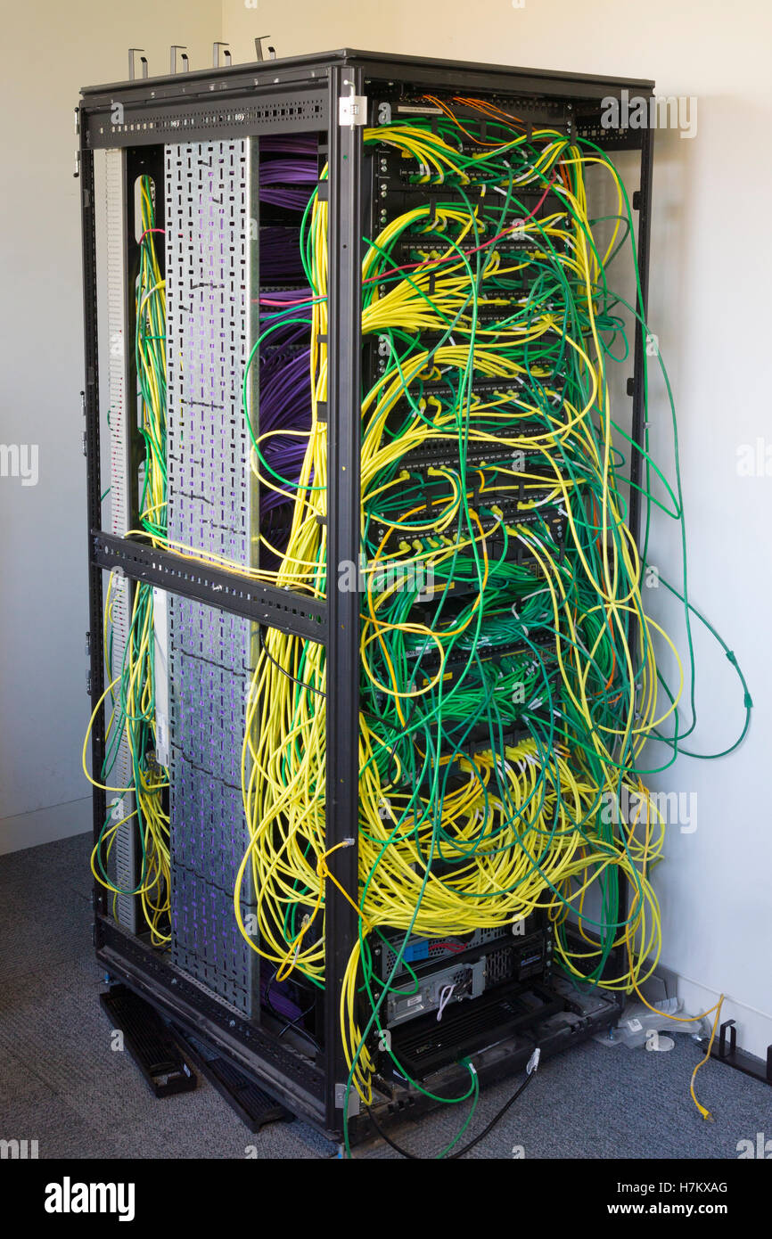 Tremendous Server Rack And Wires Stock Photos Server Rack And Wires Stock Wiring Digital Resources Funapmognl