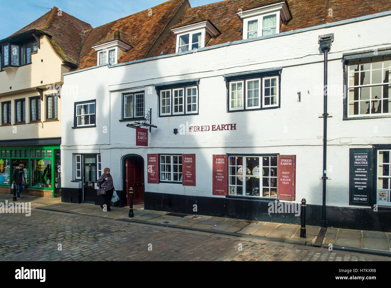 Fired Earth Specialist Paint Wall and Floor Tile Shop Supplier Burgate Canterbury Kent - Stock Image