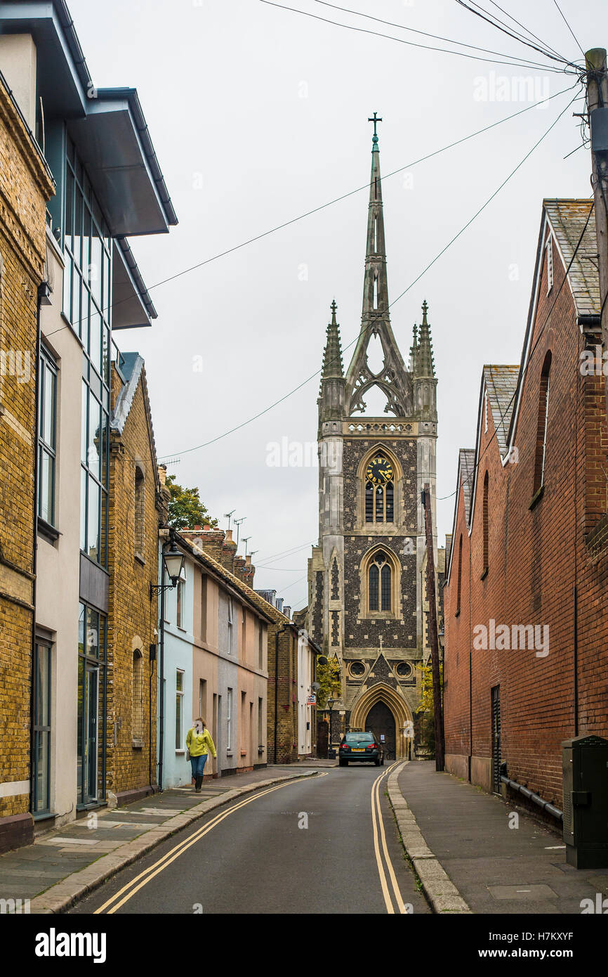 St Mary of Charity Church - Church Street - Faversham Kent England Stock Photo