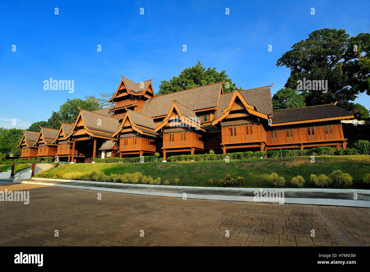 Malacca Sultanate Palace Museum, Malacca, Malaysia. - Stock Image