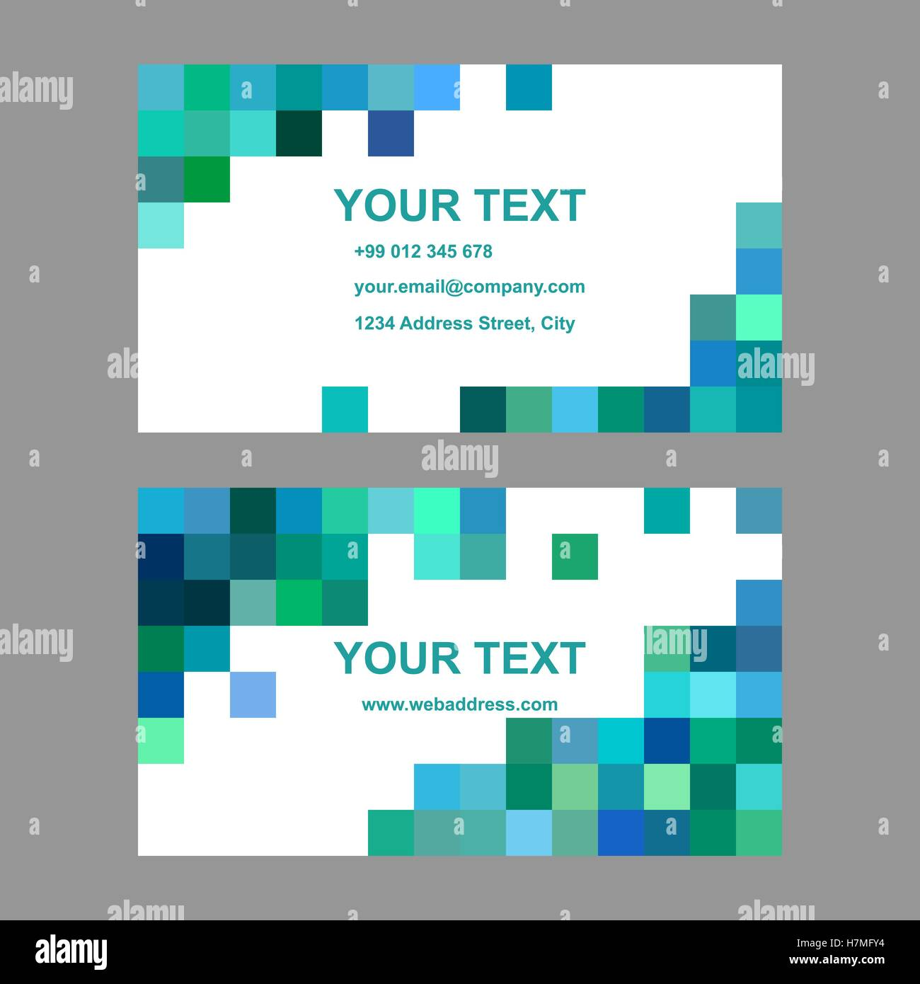 green blue square design business card template stock vector art