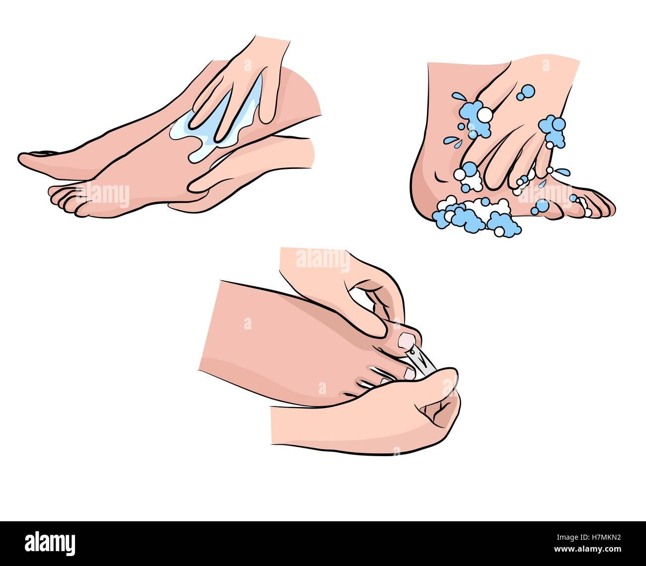Diabetic Foot Care Stock Photo Alamy