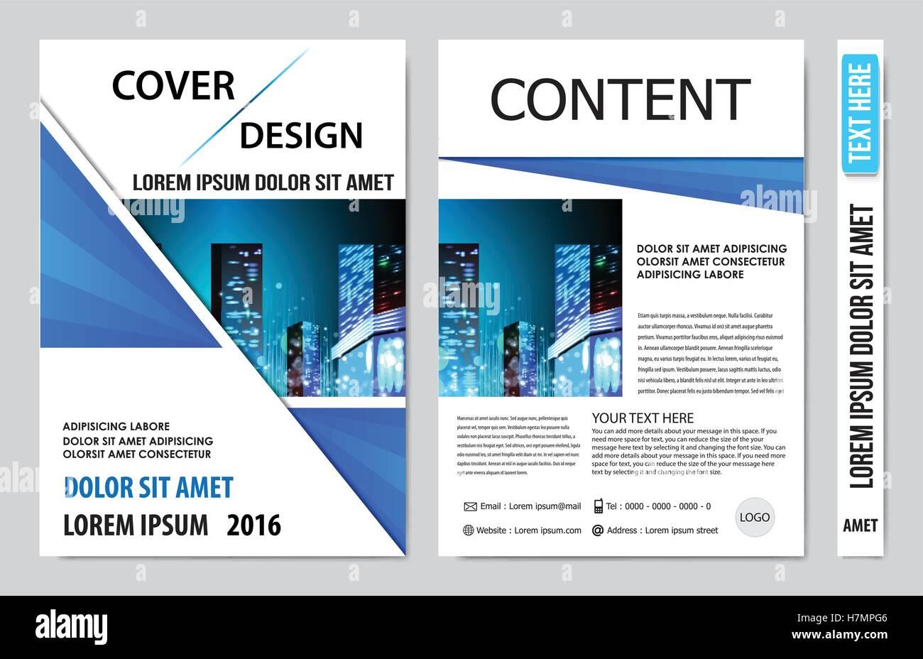 Cover book presentation design - Stock Image