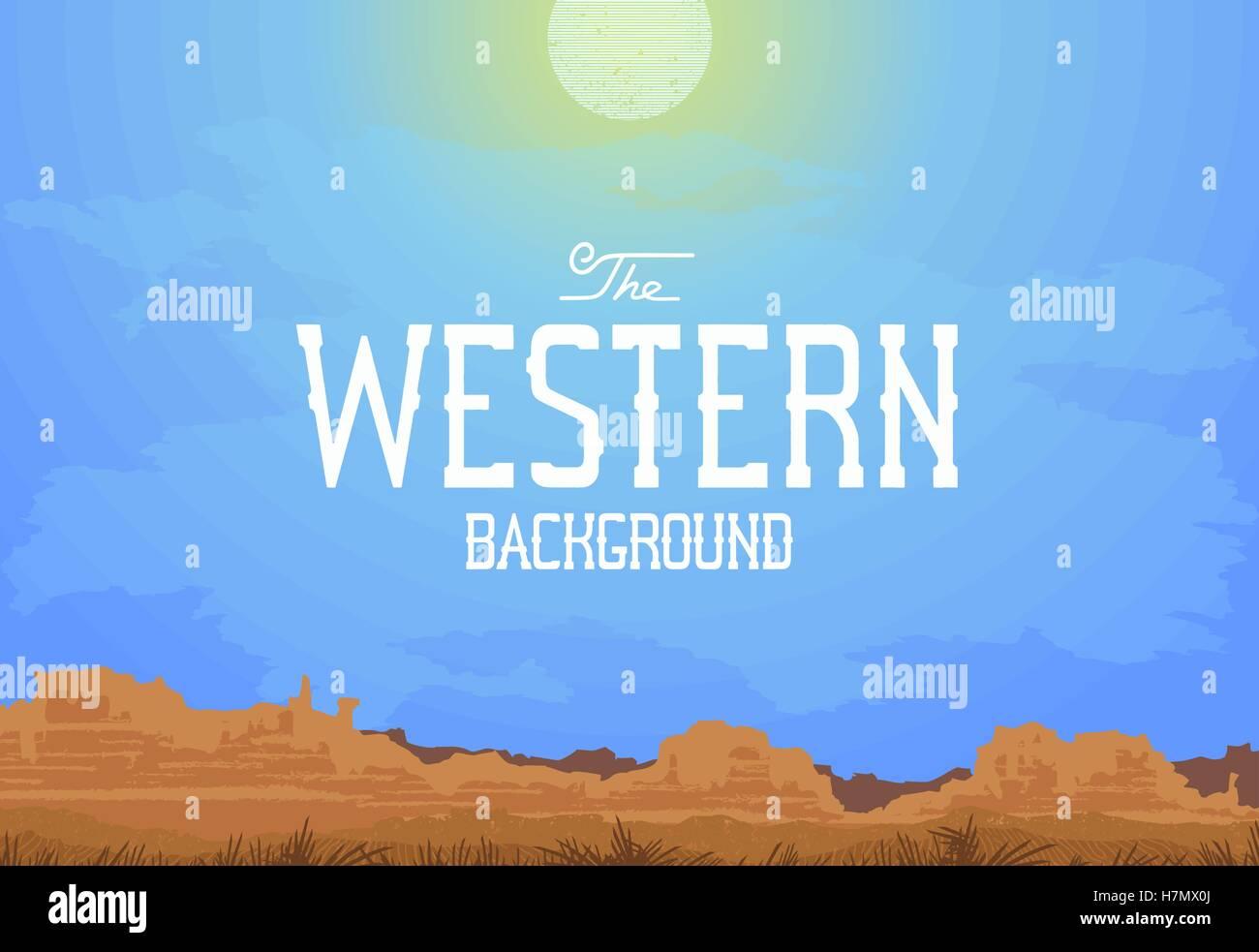 Western landscape Stock Vector