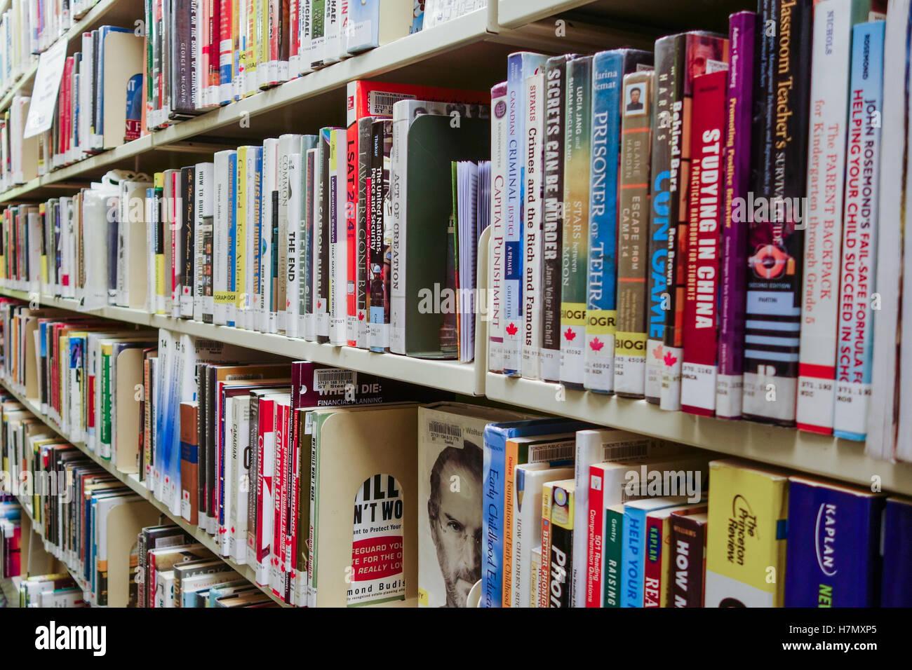 library bookshelf - Stock Image