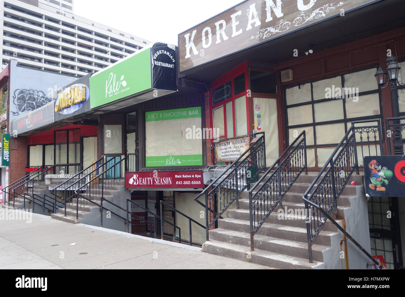 vacant retail store bad economy canada - Stock Image