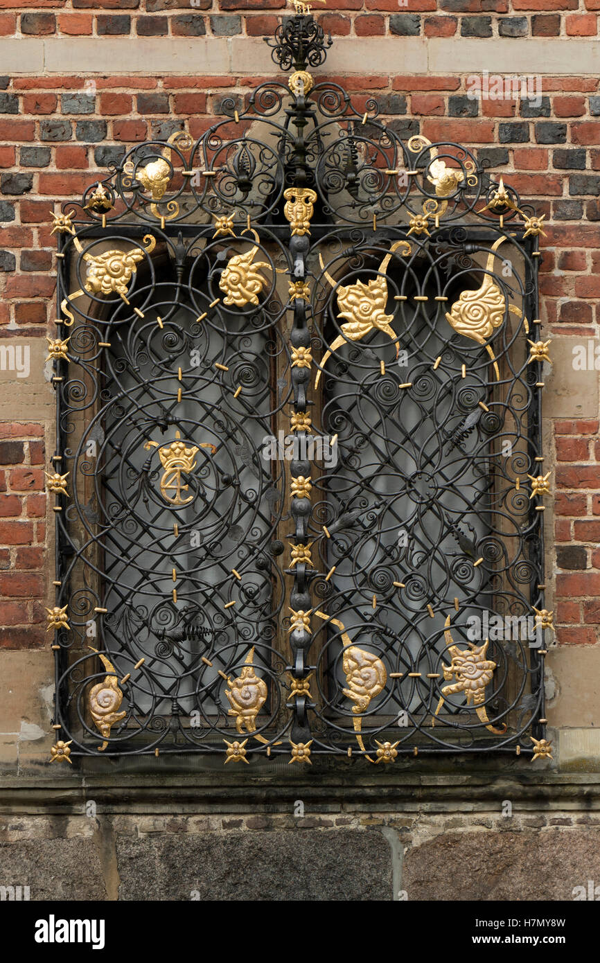Window at the Frederiksborg Castle in Hillerod, Denmark - Stock Image