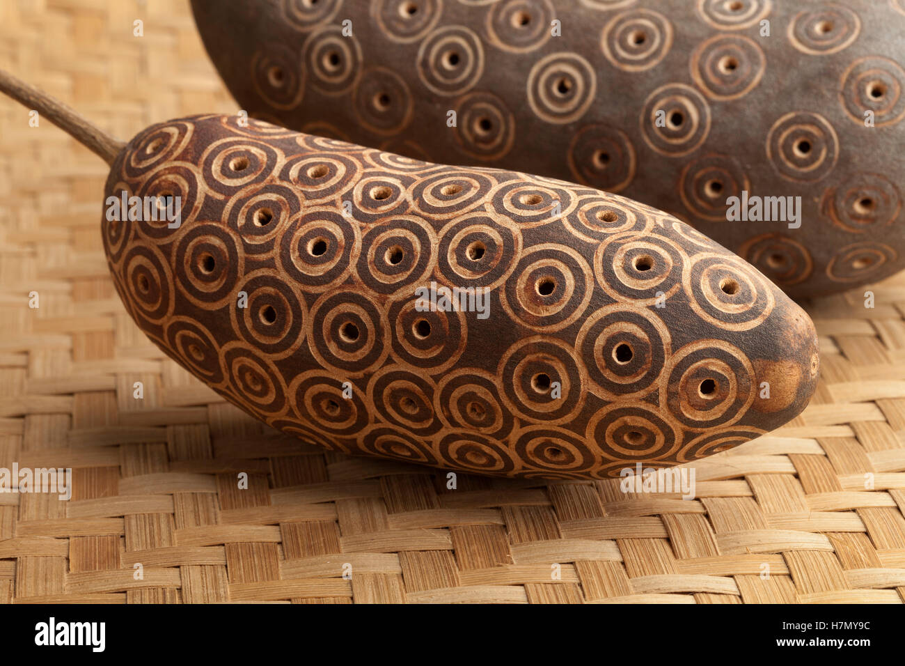 African percussion instrument close up - Stock Image