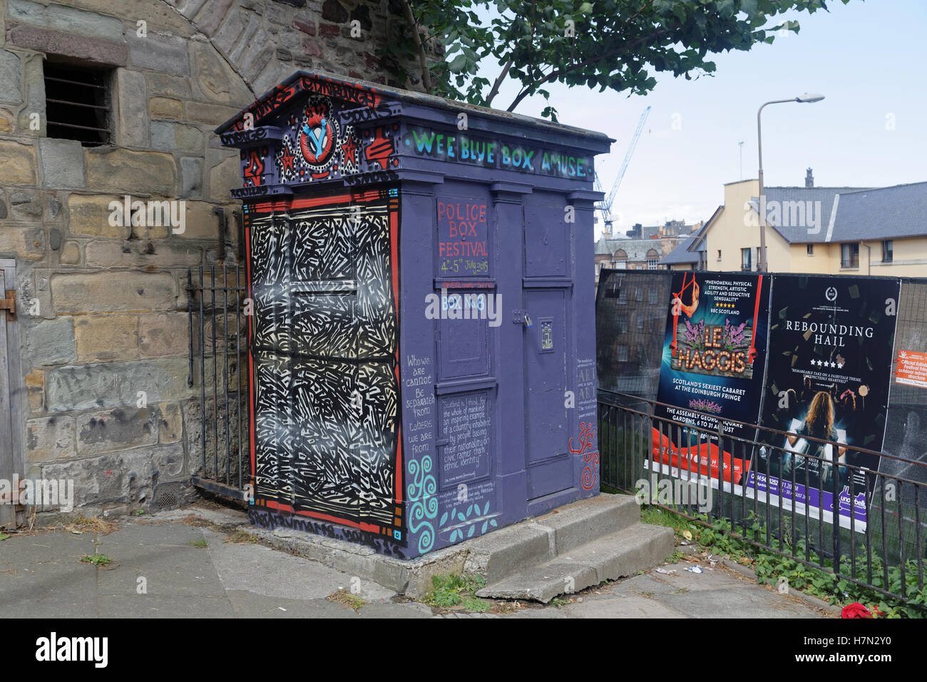 Edinburgh police box dr who adapted for other uses - Stock Image