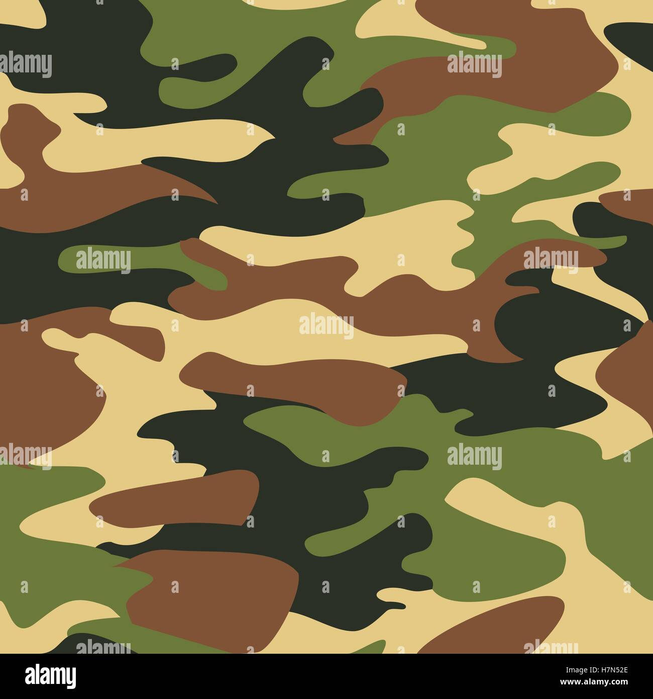 Camouflage Pattern Background Seamless Vector Camo Military