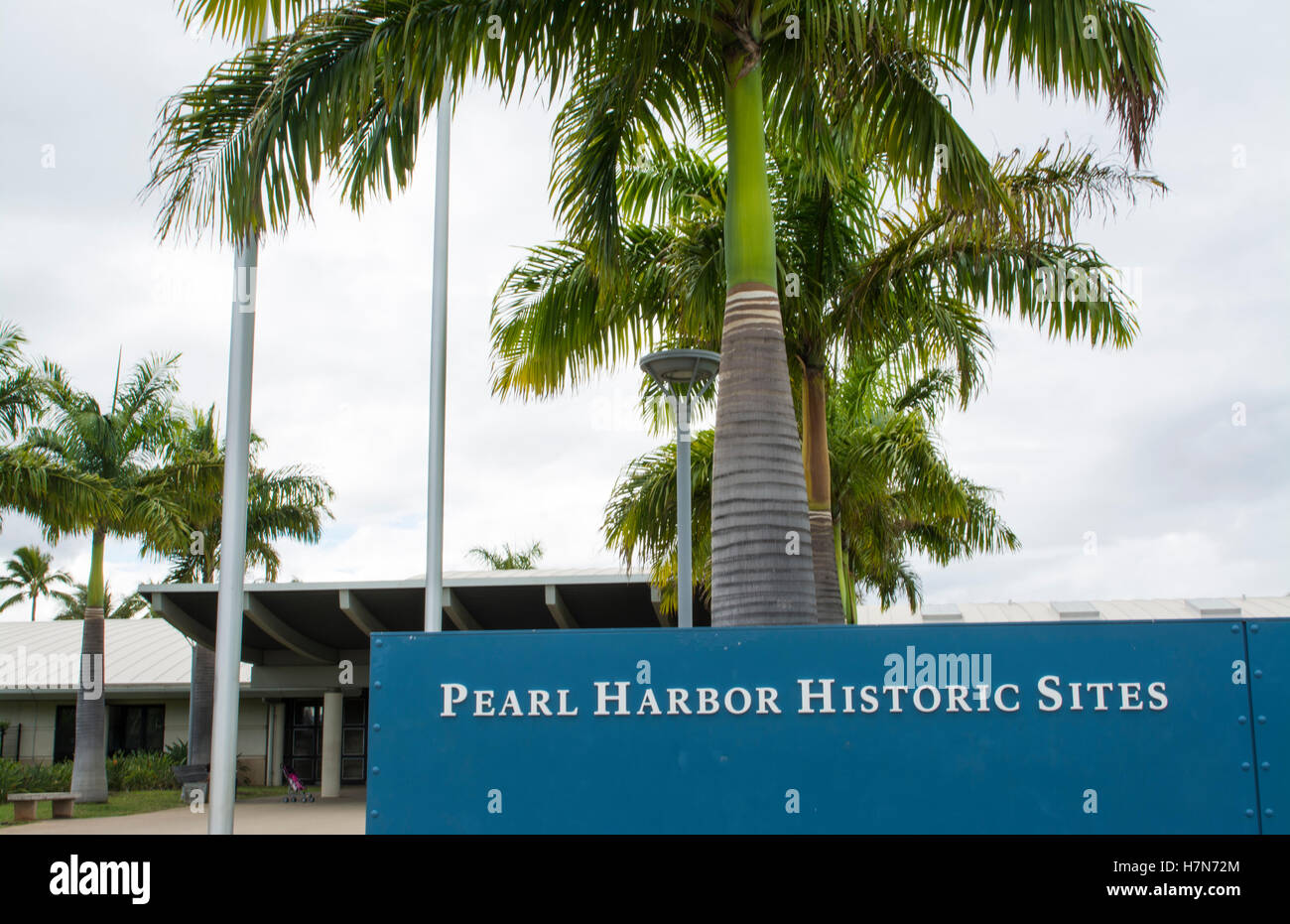 Honolulu, Hawaii Pearl Harbor Memorial war dead Japan bombing entrance - Stock Image