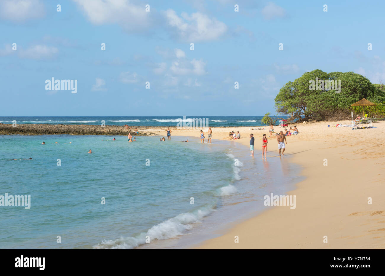 Kahuku Hawaii Oahu romantic Turtle Bay Resort beach  exclusive expensive private hotel - Stock Image