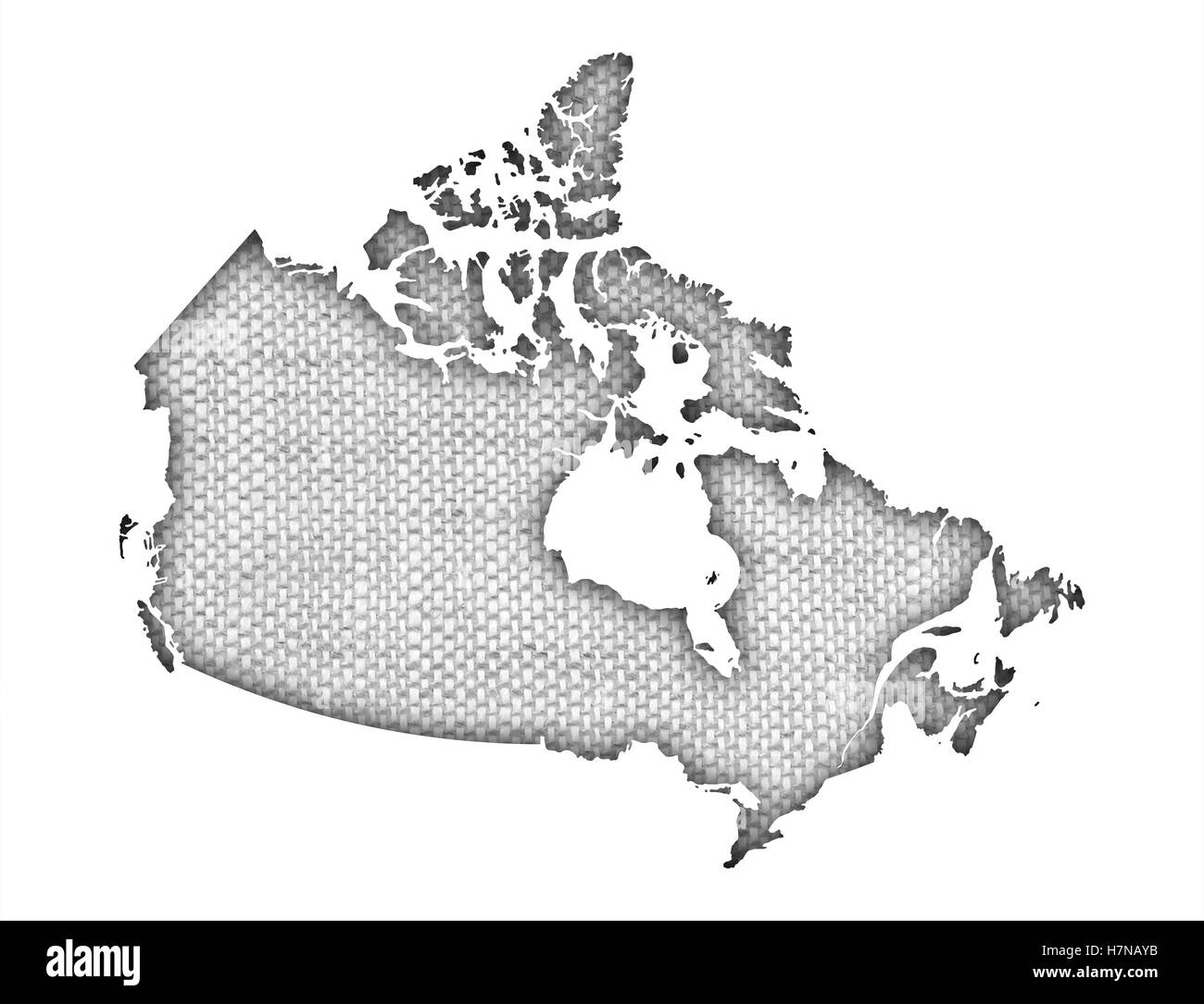 Canada map black and white stock photos images alamy map of canada on old linen stock image gumiabroncs Choice Image