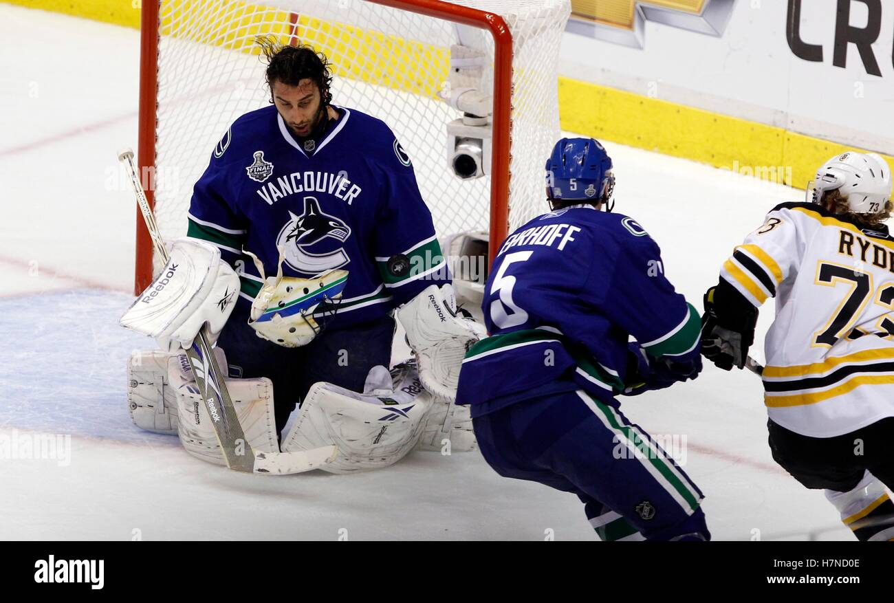 June 4 2011 Vancouver Bc Canada Vancouver Canucks Goalie