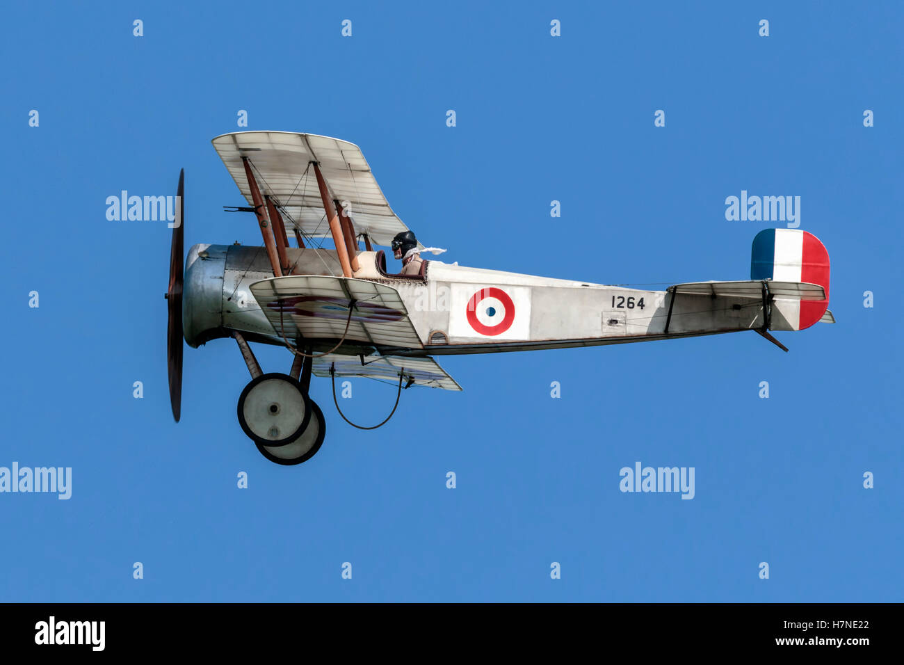Bristol Scout World War One bi-plane fighter - Stock Image
