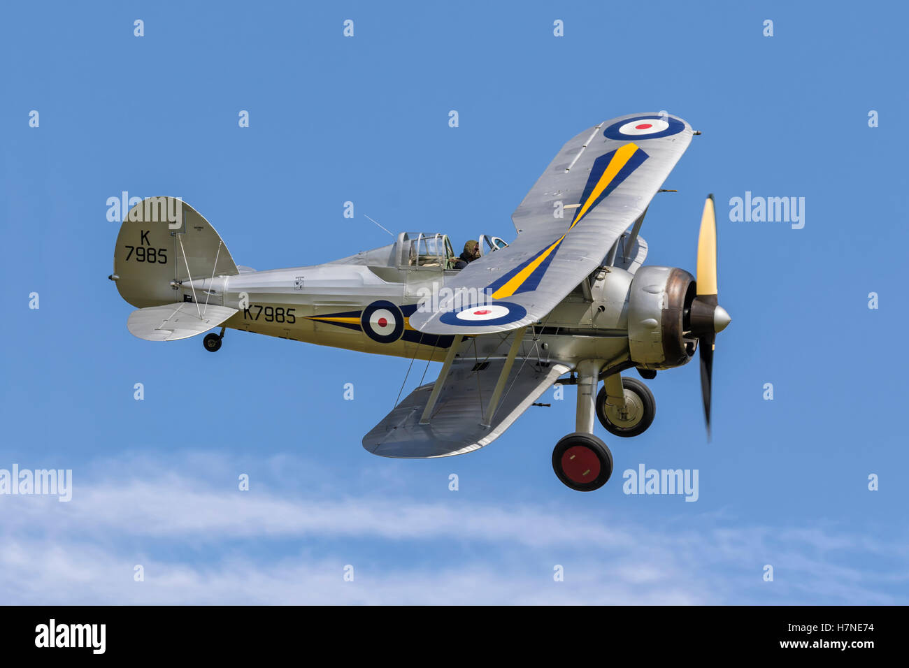 Gloster Gladiator fighter of the RAF - Stock Image