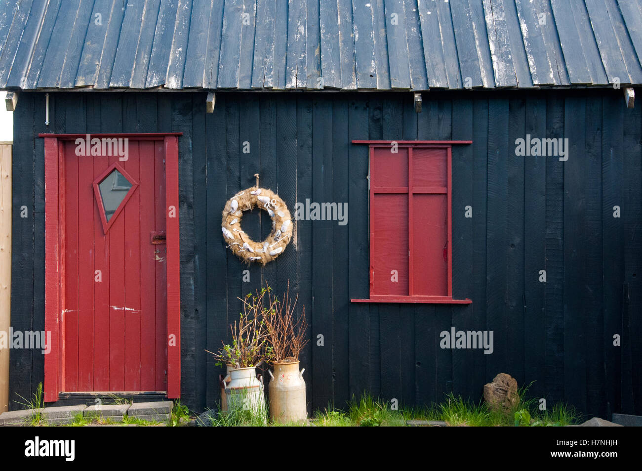 Old house Countryside Iceland - Stock Image
