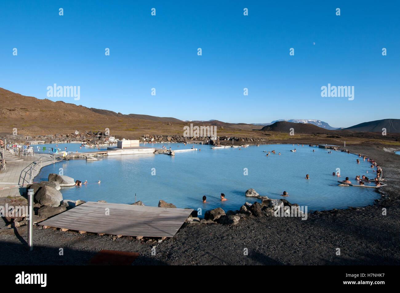 Myvatn Nature Baths, (Geothermal Hot Springs) Myvatn - Stock Image
