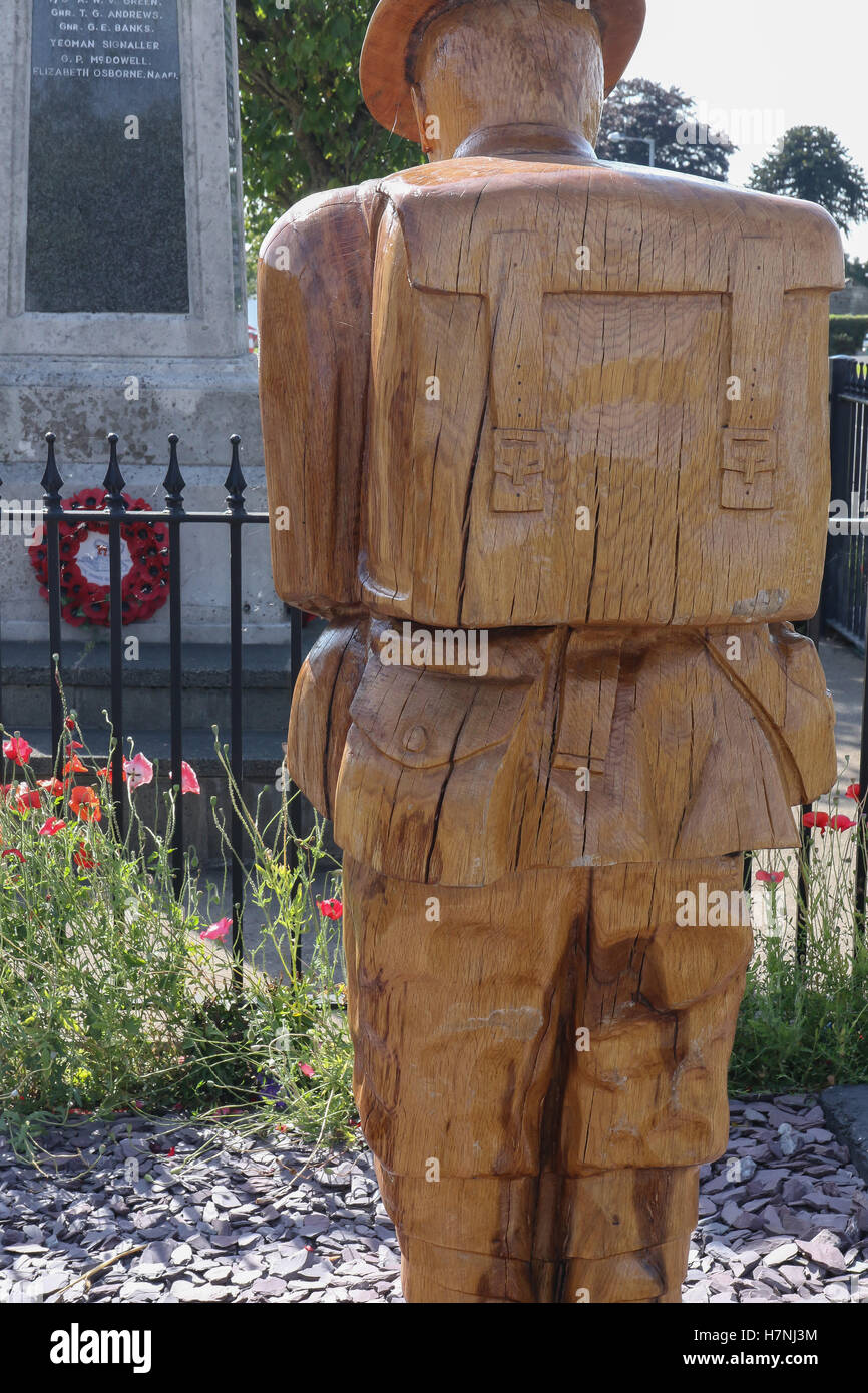 The War Memorial in Dollingstown, County Armagh, Northern Ireland. Editorial use only. - Stock Image