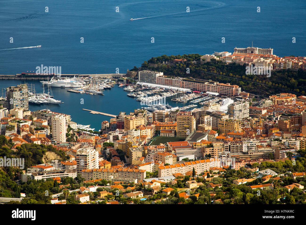 Principality of Monaco. Monte Carlo. French Riviera, Cote d'Azur. Mediterranean Sea, Europe - Stock Image