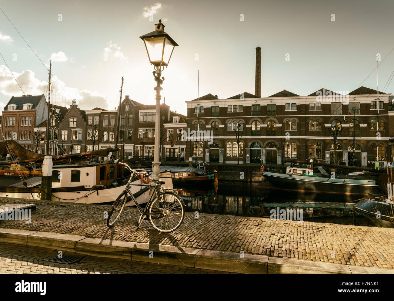 Delfshaven, Rotterdam, Netherlands - vintage style Stock Photo
