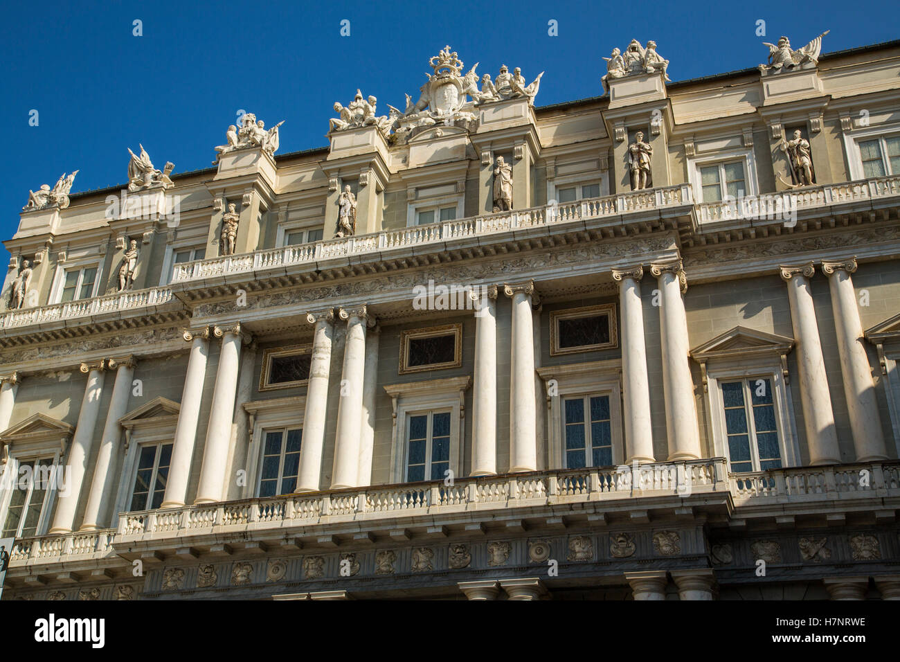 Palazzo Ducale, Piazza Matteotti, historic center. Old Twon. Genoa. Mediterranean Sea. Liguria, Italy Europe - Stock Image