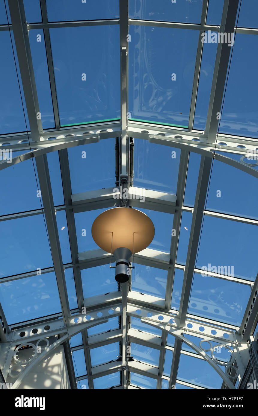 glass roof - Stock Image